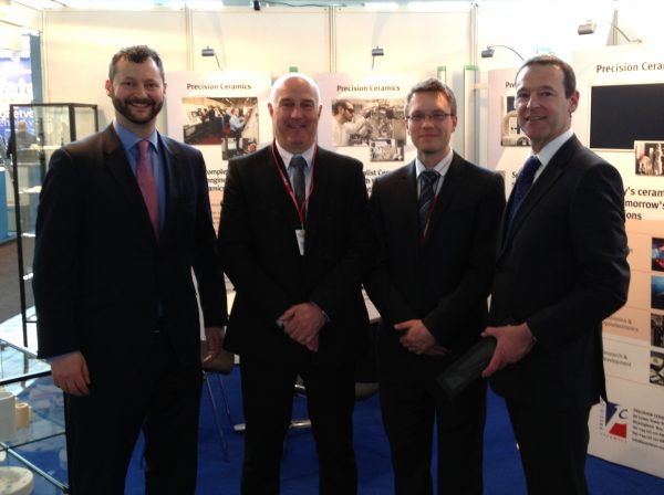 British Ambassador Visits Precision Ceramics Stand At Hannover Messe 2013