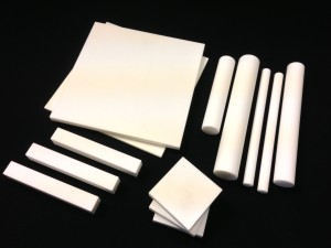 Stock technical ceramic sheets rods and bars