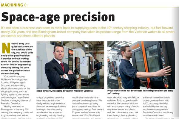 Precision Ceramics Featured In Production Engineering Solutions
