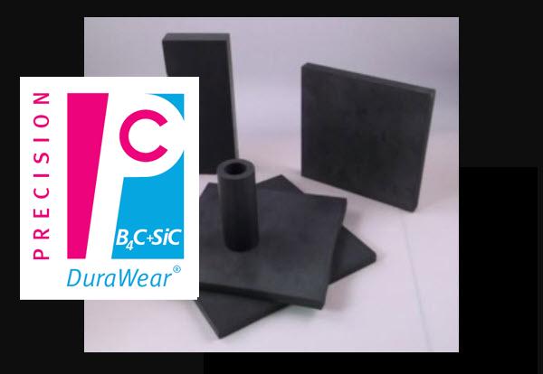 Ceramic Material - DuraWear (Boron Carbide & Silicon Carbide Composite)